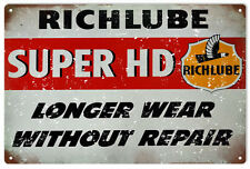 Reproduction  Rich lube Repair Service Station Sign