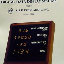 B&D Passenger Compartment Digital Data Display System Model 2504 Install Manual