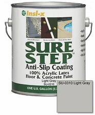 Light Gray Acrylic Anti-slip Concrete Floor Paint, 1-gallon, Interior Exterior
