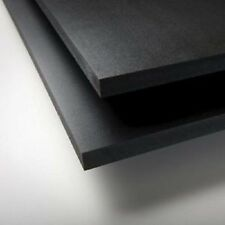 "BLACK SINTRA PVC FOAM BOARD PLASTIC SHEETS 2MM 12"" X 12"""