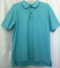 JOS A. BANK Men's M Polo Shirt Travelers Collection Sky Blue Fitted Cotton Knit