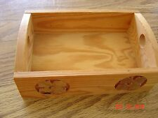 WOOD BOX TRAY MADE IN SWEDEN/SWEDISH ~ 9X6X3