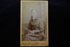 Antique Vintage CDV Photo of a Pretty Victorian Lady with Nice Dress & Hair