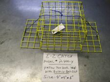 E-Z Catch Crabbing Kid's Size Weekender 2 Door PVC Coated Yellow Crab Trap/ Cage