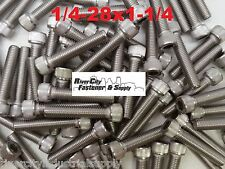 (100) 1/4-28x1-1/4 Socket Allen Head Cap Screw Stainless Steel Fine Thread 1.25