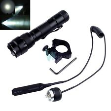 CREE XM-L2 T6 LED 1000Lm Bulb Tactical Hunting Flashlight Torch W Switch &Mount