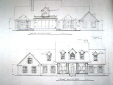 Custom Home Plans 3233 A/C Sq. Ft.Two Story 3 Bed 2 1/2 Baths 3 Car Garage