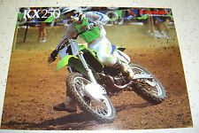 1 Kawasaki 1987  KX 250, Brochure  NOS 2 pages,
