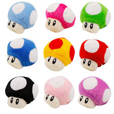 "5 Pcs SUPER MARIO Bros Mushroom 2.5"" Plush Doll Figure"