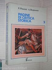PAGINE DI CRITICA STORICA F Panzini A Rogmann Ferraro 1989 Volume Secondo libro