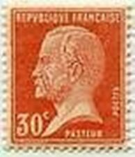 "FRANCE STAMP TIMBRE N° 173 "" TYPE PASTEUR , 30 C ROUGE "" NEUF x  TB"