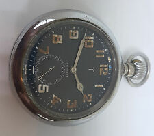 ZENITH 1938 - MILITARY POCKET WATCH BLACK DIAL LARGE