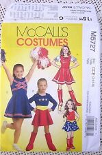 5727 SEWING PATTERN~GIRLS SZ 3-6~COSTUME:SUPERGIRL&CHEERLEADER~DRESS AND BELT+