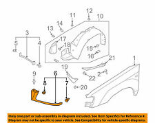 SUBARU OEM 03-04 Forester Fender-Front Extension Bracket Right 57112SA000GH