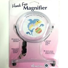 """Hemline Hands Free Magnifier - 4-1/2"""" Wide Sewing & Embroidery Tool"""