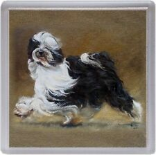 Tibetan Terrier Dog Coaster No11SH by Starprint from a painting by Susan Harper