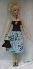 KITTY COLLIER Doll Clothes #05 Handmade Top, Skirt, Purse & Jewelry Set