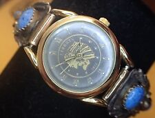 Dual Tone 1911 Indian Head Woman's Watch w Sterling Tipped Watch Band #36 New B