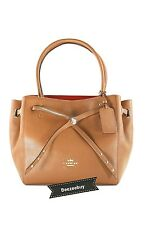 NWT Coach Turnlock Tie Small Refined Pebble Leather Top Handle Tote 35838 $395