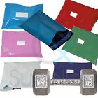 Coloured Strong Plastic Mailing Post Poly Postage Bags Sacks Self Seal ALL SIZES