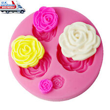 FOUR-C 3D Rose Flower Cake Decorating Tools Cutter Mold Sugarcraft Fondant Mould