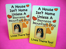"""""""Bernese Mountain Dog"""" A House Isn't Home - A Pair Of Dog Lover Cards - Sku# 39"""