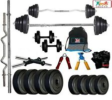 Bodyfit BF-30KG Weight Plates,5ft Rod,3ft Rod,2 D.RODS Home gym dumbell set.