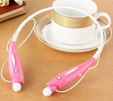 Bluetooth Wireless Sports Stereo Headset Headphones With Call Microphone (Pink)