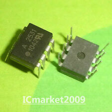 10 PCS HCPL2531 DIP-8 HCPL-2531 A 2531 Dual Channel, High Speed Optocouplers