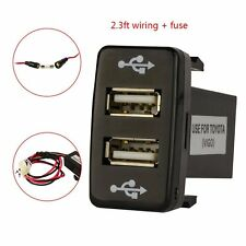 Universal Dual USB 2 Port Charger For Toyota Auto Car Cellphone iPhone 5 4s MP3