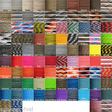 11 Color Lot of Paracord 100 Foot 550 lb 7 Strand for Camping Survival Bracelets