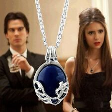 The Vampire Diaries Elena Gilbert blue stone Pendant Necklace Costume Props