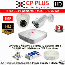 CPPLUS HD CCTV Cameras 2 with 4Ch. HD DVR Kit with all accessories