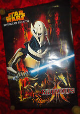 "Star Wars #101 vintage poster, HUGE, 36""x24"", Grievous, Revenge of the Sith"