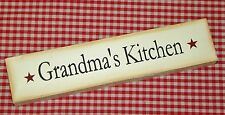 "Rustic Country Wood Message Block ""GRANDMA'S KITCHEN"" home decor"