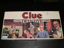CLUE PARKER BROTHERS 1986