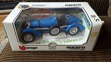 """VTG 1/18 Blue Burago Bugatti Type """"59"""" (1934) Diecast Car"""