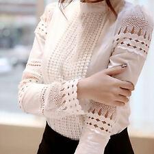 Women Loose Long Sleeve Cotton Casual Blouse Shirt Tops Fashion T-shirt Shirt