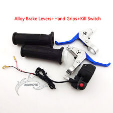 Alloy Brake Levers Twist Throttle Handle Grips Kill Switch For Mini Pocket Bike