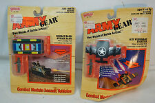 VINTAGE GALOOB TOYS ARMY GEAR COMBAT MEDALS ASSAULT VEHICLES LOT 2 AIR WINGS MOC