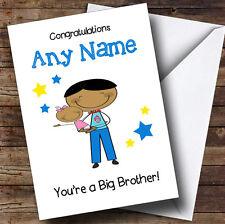 Grand frère asiatique Félicitations Nouveau Bébé Soeur Fille Personnalisé frère carte