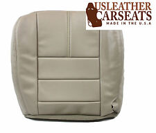 2008 2009 2010 Ford F250 F350 Lariat Leather Driver Bottom Seat Cover Stone Gray