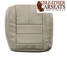 2008 2009 Ford F350 Lariat Leather Driver Bottom Synthetic Seat Cover Camel TAN