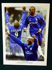 Jimmy Flyod Hasselbaink signed Chelsea Photograph