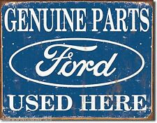 Large Genuine Ford Parts Garage Advertising Weathered Metal Tin Sign New 1422