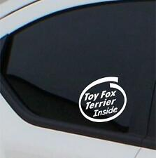 2x Toy Fox Terrier Inside stickers car decal