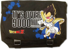 **License Bag** Dragon Ball Z Vegeta Over 9000 Black Messenger Back Pack #82496