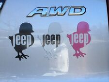 jeep chick car magnet, Pink