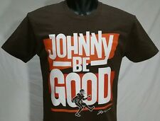 Cleveland Football JOHNNY BE GOOD T Shirt S GV Art Design Ohio Rocker Tee RaRe