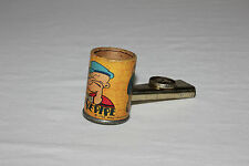 Popeye 1934 King Features Syndicate Musical Toy Tin Corn Cob Pipe Kazoo VG L@@K